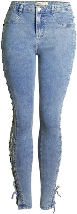 Women's New product!! Jeans Distressed Stretch Cross-Leg Str Mid-Waist We OFFer at cheap prices