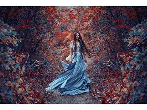Oedim Stickers muraux Photo Image | Princesse de la forêt | De 500 x 300 cm | Sticker Vinyle Adhésif Autocollant Fond Mural |