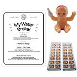 My Water Broke Baby Shower Game with Mini Plastic Babies for Ice Cubes, 32 People (Caucasion)