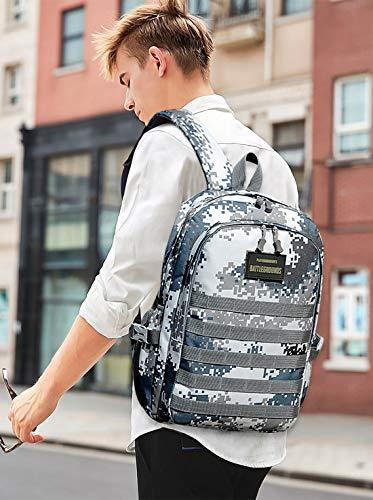 51eMmntWCSL - FANDARE Militar Mochila Bolsa de Escuela Unisexo Mochilas Tipo Casual Bolsos de Mujer Hombre Bolsa de Viaje Niña Niño School Bag Adolescente Knapsack Daypack Impermeable Poliéster Azul