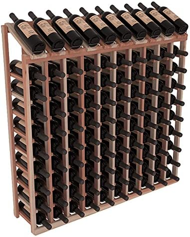Wine Excellence Racks Popular shop is the lowest price challenge America Redwood 10 Row Top Unstaine Display Column