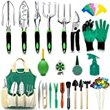 AOKIWO 51 PCS Garden Tools Set Succulent Tools Set Heavy Duty Aluminum Manual Garden kit Outdoor Gardening Gifts Tools...