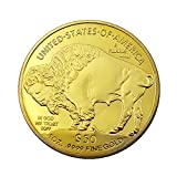 Native Americans and USA Liberty Buffalo Yak in God We Trust Gold Challenge Collectible Coin 1 Oz 9999 FINE Gold 50 Dollars Copy