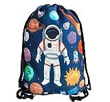HECKBO Bolso de Gimnasia para niños con Motivos espaciales de Astronauta Unisex   Jardín de...