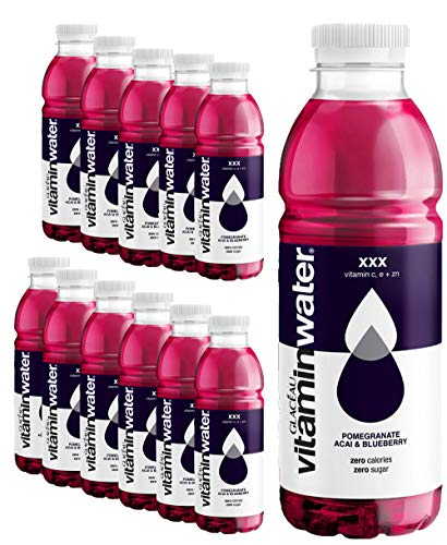 Glaceau Vitamin Water Pomegranate Accai Blueberry Sugar Free - 12 x 500 ml