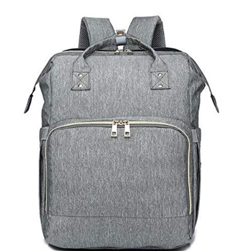 Etyybb Mochila cambiador de bebé, bolsa de pañales multifunción, bolsas de pañales con cambiador, cama plegable de viaje para bebé