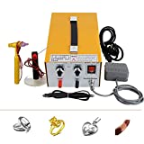 zorvo Pulse Sparkle Spot Jewelry Welder Machine, Electric Soldering Handheld Welding Machine for 0.4-1.0mm,DIY Welding Tool Kit with Foot Pedal for Precious Metal & High-grade Steel【5-8 days Deliver】