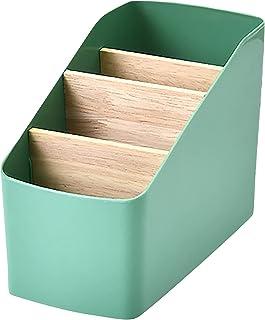Panier de rangement, boîte de rangement en plastique, boîte de rangement de bureau, 4 compartiments, boîte de rangement mu...