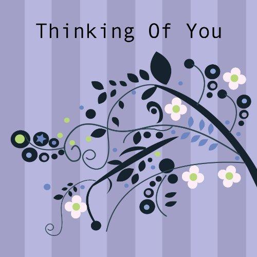 Twizler Thinking of You - Tarjeta de felicitación con cristales de Swarovski