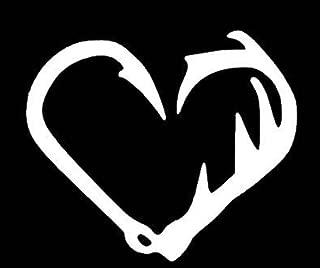 antler fish hook heart
