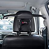 FMS Metal Headrest Car Travel Hanger for Jackets Suit Coat Rack Keep Jackets Straight and Neatly, Black