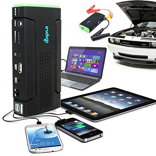 Great Price! Indigi Multi-Function Powerful Power Bank Car Emergency JUMP START + Back-up Power Sour...