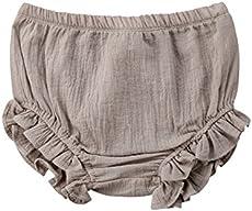 Mornbaby Baby Girl's Bloomers Cotton Ruffle Panty Diaper Covers Underwear Shorts Toddler Kids Girls (Khaki, 18-30 Months)