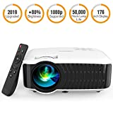 DBPOWER Video Projector, 120 ANSI 3400L 1080P Full HD LED Movie...