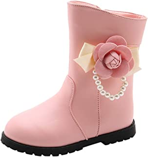 ZZBO Baby Girl Boy Winter Booties Warm Fur Waterproof Martin Ankle Boots Soft Sole Non-Slip Snow Boots Slippers Infant Newborn Toddler Cozy Crib Shoes Prewalkers