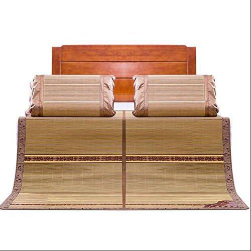 Tapis de lit d'été Le tapis de bambou à double face peut être plié 1,8 mètre mat unique étudiant dortoir mat d'été bambou 0,8-0,9 m double siège pour envoyer l'appui-tête (taille   1.5m (5 feet) bed)