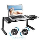 Lapdesk Computer portatile Stand Tavolo Scrivania ergonomica Scrivania con supporto per mouse...