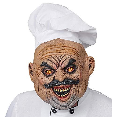 WIDMANN 03308 Maske Böser Koch mit Mütze, Herren, Mehrfarbig