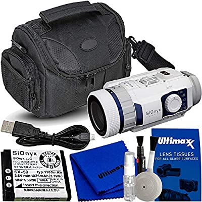 SiOnyx Aurora Sport Water-Resistant IR Night Vision Camera with Water Resistant Carrying Case and Deluxe Cleaning Kit by SiOnyx