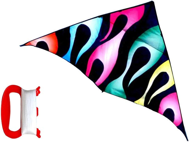 ZHWEI Drachen Drachen Dreieck Drachen Leitungslnge 100   200m Einfach Zu Fliegen Erwachsene Kinder Drachen (Farbe   02, gre   Line Length 100m)