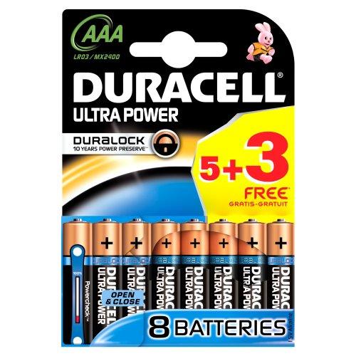 Duracell Ultra Power, 3, 5–Batterie alcaline-duralock AAA