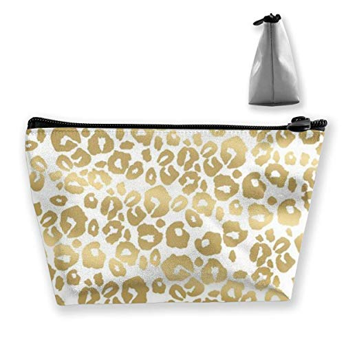 Make-up tas Cosmetic Bag Travel Make Up Pouch toilettas met ritsvak voor vrouwen en meisjes Cheetah Golden Leopard