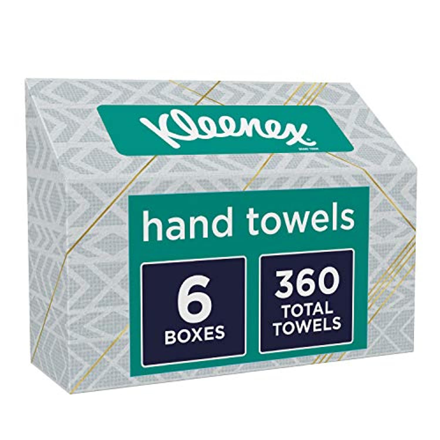 Kleenex Hand Towels, 60 Count per Box, Pack of 6