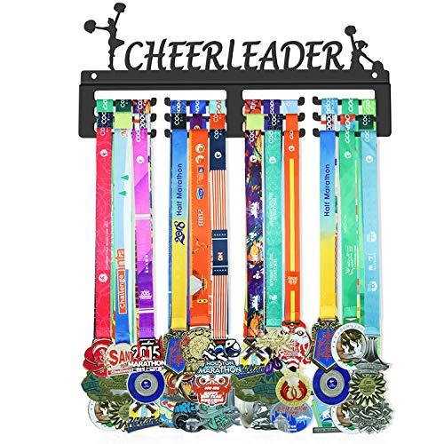 WEBIN Cheerleader Medaillen Aufhänger Halter Display Rack,Schwarz Super Hart Stahl Metall,Wandmontage Über 50 Medaillen