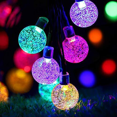 Ankway Decorativo Catena Luminosa Solare Strisce LED da Esterno - Luminarie Colorate a Globo Impermeabili Fino a 5 m, 30 LED
