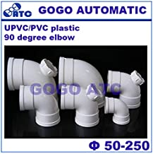 Fevas PVC Environmental Safety 90 Degree Elbow Right Angle Bend Drainage Inspection Port O.D 50-250 mm PVC Sewer Pipe Fittings - (Color: PVC, Specification: 110mm)