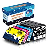 STAROVER 932XL 933XL Tinta Compatible Cartuchos de Repuesto para HP 932XL Officejet 933XL para HP 6100 6600 6700 7110 7510 7610 7612 (Paquete de 5)