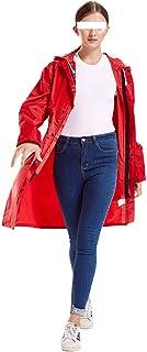 ZEMIN ポンチョ レインウェア ポンチョ レインコート ウインドブレーカー 防水 カバー 隠す クライミング 大人 ポリエステル (色 : Red, サイズ さいず : XXL)