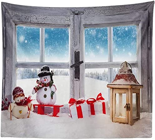 Wall Tapestry Tv Background Tulsa Mall Scenery Inventory cleanup selling sale Snowm Ornament
