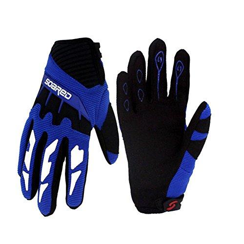 Gtopart 50 g MTB-Handschuhe für Kinder, zum Skateboarden, Klettern, Fitness (Licht, Luft) (blau, XS)
