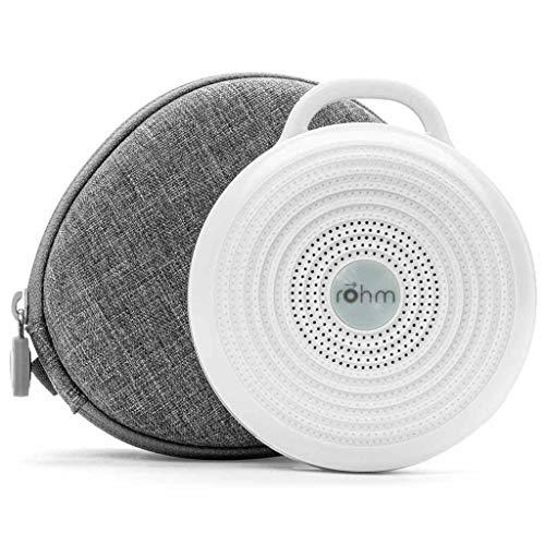 Yogasleep Rohm Portable White Noise Machine + Travel Case Grey/White 2 Piece Set (Pack of 2)