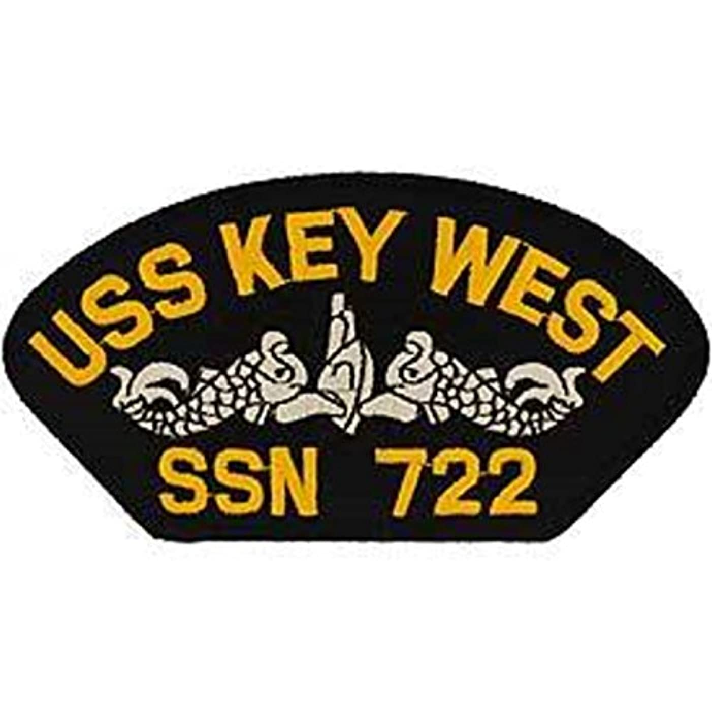 EagleEmblems PM1553 Patch-Uss,Key West (3x5.25'')