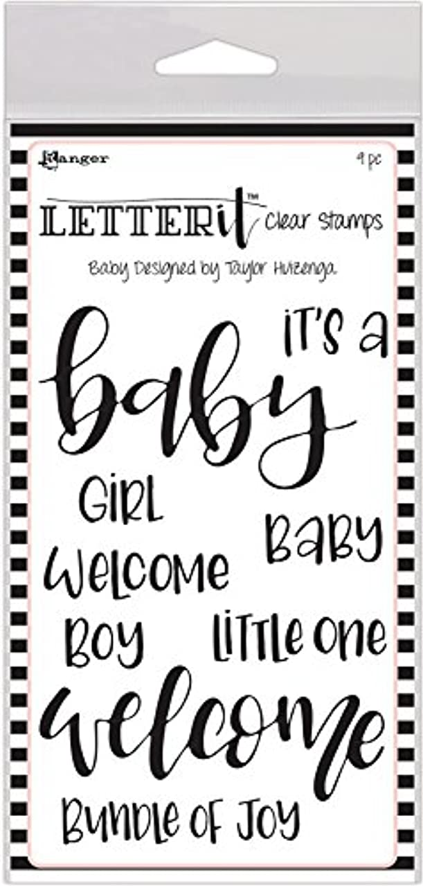 Ranger Baby Letter It Clear Stamp Set 4