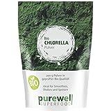 CHLORELLA Algenpulver - Bio Superfood - Für natürliche Körperentgiftung, Verdauung, Abnehmen, Herz-Kreislauf, Energie und vieles mehr (200g BIO Chlorella Pulver)