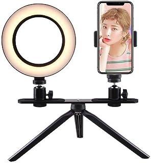 JYEMDV Mini Creative LED Fill Light for Phone Multi-Shape Battery Powered Beauty Light Outdoor Selfie Light Color : L-Black