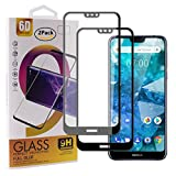 Guran [2 Paquete Protector de Pantalla para Nokia 7.1 (2018) Smartphone Cobertura Completa Protección 9H Dureza Alta Definicion Vidrio Templado Película - Negro