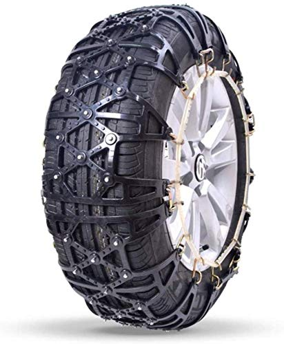 WYJW Cadenas de Nieve Cadenas de neumáticos Cadena de tracción de neumáticos Cadenas de Ruedas universales, fácil de Montar, Antideslizante para neumáticos, tracción de Emergencia portá