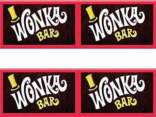 Personalizzati solo per te Wonka Replica tavolette di cioccolato x2 100 grammi con biglietto d'oro all'interno di Theses sono i nostri involucri personalizzati e barrette di cioccolato