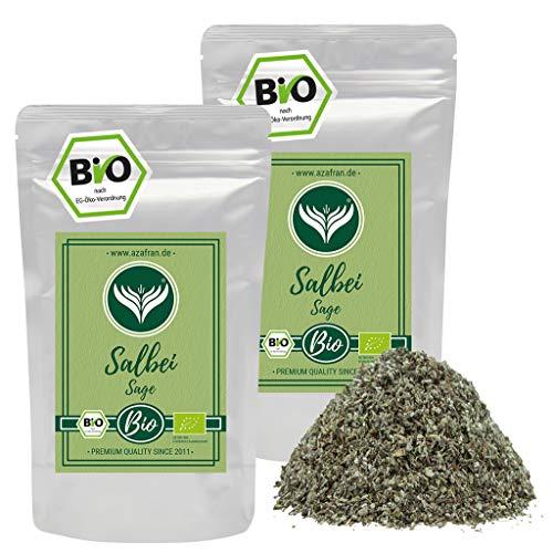 Azafran BIO Salbei - Salbeiblätter gerebelt lose Kräuter oder Tee 500g