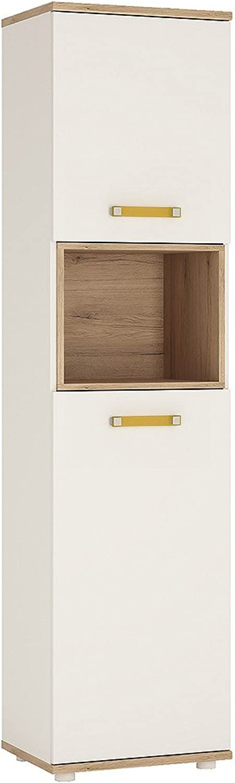 Furniture To Go Tall 2 Door Cabinet, Oak, orange, 480x402x1908 cm
