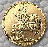 Chaenyu Moneda de Polonia 1697 bañada en Oro de 24 K, colección de Recuerdos de Regalo de 23,3 mm, Moneda Conmemorativa