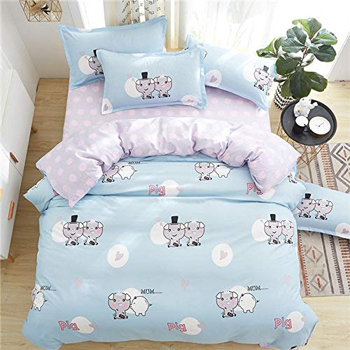 LOIKHGV Bedding set,duvet cover set WHALE bedding set pinetree bed set black white bed linen set wholesale home bedding,dance green,King