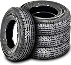 Set of 4 (FOUR) Transeagle ST Radial II Premium Trailer Radial Tires-ST215/75R14 215/75/14 215/75-14 108/103L Load Range D LRD 8-Ply BSW Black Side Wall