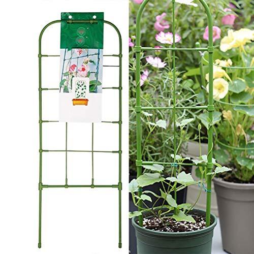YFGlgy Gartenpflanzengitter, Gitter für Kletterpflanzen Schmiedeeisen Metall Wetterbeständige Gartenhofkunst, Breite 13 * Höhe 60 cm, zweiteilig