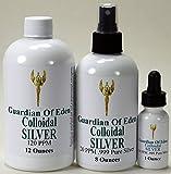 GOE 12 FL Oz 120ppm Colloidal Silver & 8 Fl Oz 20ppm Colloidal Silver Spray Bottle + Free 1 Oz 120ppm Colloidal Silver Filled Dropper Bottle! Lab Tested.