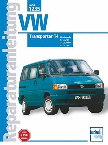 VW Transporter T4, Diesel (ab Jan. 1996-1999): 1,9 Ltr. Diesel, 1,9 Ltr. Diesel TDI, 2,4 Ltr. Diesel. 2,5 Ltr. TDI: 1,9 Liter, TDI, 2,4 ... Liter, TDI. 1996-1999 (Reparaturanleitungen)